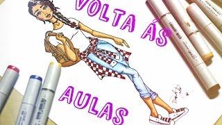 getlinkyoutube.com-Desenho de Moda - Look Volta ás Aulas!