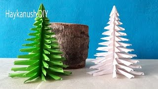 getlinkyoutube.com-HOW TO MAKE CHRISTMAS TREE WITH PAPER 🎄3 D CHRISTMAS TREE