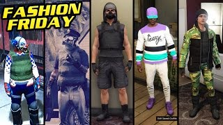 getlinkyoutube.com-GTA 5 Online: FASHION FRIDAY! (Dirty Cop, Sweet Tooth, Jyn Erso, Bandit & More)