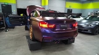 getlinkyoutube.com-Jake Angeles BMW F82 M4 w/ Armytrix Cat-Back Valvetronic Exhaust - LOUD!