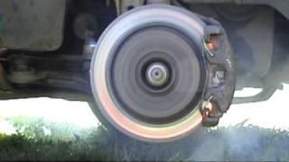 getlinkyoutube.com-Ekstremalne palenie klocków i tarcz hamulcowych. Extreme burning brake pads and disks
