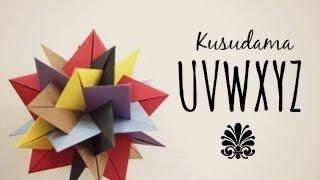 getlinkyoutube.com-How to make a Kusudama UVWXYZ (Francesco Mancini)