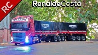 Miniatura NOVA Caminhão - VOLVO FH 540 BITREM 9 Eixos - Mini Truck - Feito de Madeira