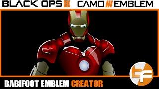 getlinkyoutube.com-Black Ops 3 Emblem Tutorial #015 - Iron Man Emblem #Babifoot