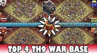 getlinkyoutube.com-Clash of Clans | TOP 4 Town Hall 9 (Th9) Clan War Base (Air Sweeper) | Quad Base Vs Base