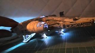 getlinkyoutube.com-Build Bandai 1/144 STAR WARS MILLENNIUM FALCON Vol.08