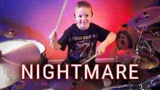 getlinkyoutube.com-Nightmare - A7X - Drum Cover - 7 year old Drummer - Avery Drummer Molek