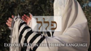 Hebrew Word Study - Pray (Pictures)