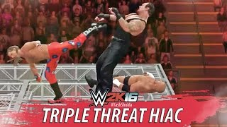 getlinkyoutube.com-WWE 2K16 - Undertaker vs Triple H vs Shawn Michaels - Hell In A Cell Full PS4 Gameplay Match