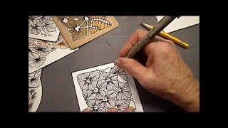 getlinkyoutube.com-How to draw Tangle Pattern Nymph Lesson #2 by Melinda Barlow