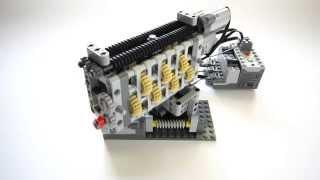 getlinkyoutube.com-Lego Technic Smooth Linear Gearbox - 6 Speed + Reverse