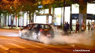 getlinkyoutube.com-BURNOUT BUSTED by UNDERCOVER COP! VW Golf BURNOUT On NYC Public Street Get Caught