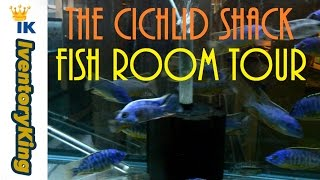 getlinkyoutube.com-Fish Room Tour | The Cichlid Shack | African Cichlids | Peacocks and Haps | Of | From | Lake Malawi