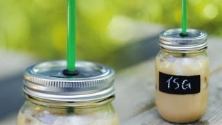 DIY Project: Adult sippy cups from Mason jars