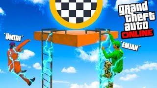 PARKURU BİTİR TANKI AL,HERKESİ ÖLDÜR !! - GTA 5 Online (Sesegel,Ümidi,Ozan)