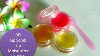 DIY - Lemon lip scrub, lip moisturizer & Lip Balm - for soft beautiful lips -
