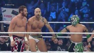 getlinkyoutube.com-Sami Zayn, Cesaro  Kalisto vs The League of Nations SmackDown, April 28, 2016