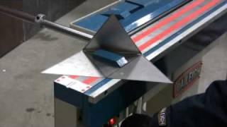 getlinkyoutube.com-Baileigh BB-4816M Magnetic Box and Pan Brake Sheet Metal Bending Machine