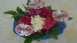 getlinkyoutube.com-Geldgeschenk zum Geburtstag mit Blumen ❁ Deko Ideen mit Flora-Shop