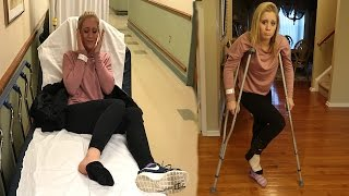 SHE BROKE HER FOOT!