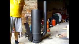 getlinkyoutube.com-Rocket Stove (finished) - GERMAN / Raketenofen (endlich fertig)