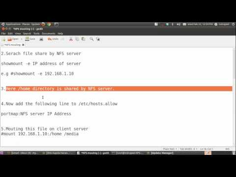 Mounting NFS share files in Ubuntu