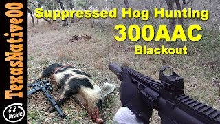 getlinkyoutube.com-Suppressed 300 Blackout First Person Hog Hunting - Vehicular Shooting