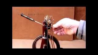 getlinkyoutube.com-Cold starting 12 cm. True Diesel Model Engine by hand