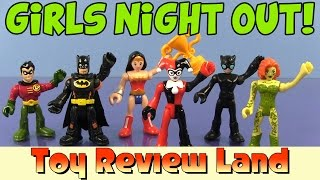 getlinkyoutube.com-Imaginext Girls Night Out with Poison Ivy, Harley Quinn, Catwoman, Batman, Robin, and Wonder Woman