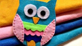 getlinkyoutube.com-How To Make a Cute Adhesive Felt Owl Applique - DIY Crafts Tutorial - Guidecentral