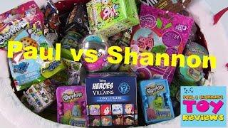 getlinkyoutube.com-Paul vs. Shannon   Shopkins Disney Tokidoki MLP   Blind Bag Opening   PSToyReviews