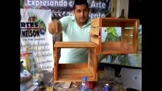 getlinkyoutube.com-Como hacer una Repisa Estantería o armario con madera reciclada (FACILITO)
