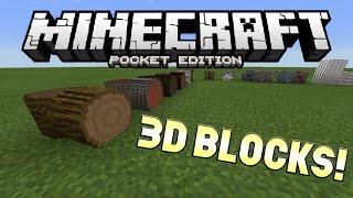 getlinkyoutube.com-3D BLOCKS IN MCPE!!! - 0.12.3 3D Blocks Mod - Minecraft PE (Pocket Edition)