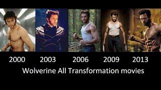 getlinkyoutube.com-Wolverine Transformation in Movies- 2000- 2003- 2006- 2009- 2013 [Wolverine transformacion]