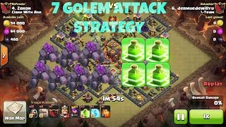 getlinkyoutube.com-Clash Of Clans - New 7 Golem + 4 Jump Spell Guaranteed 2 Star Attack Strategy - Destroy Max Th10