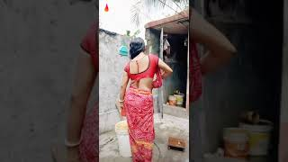 Hot saree aunty in wet dress and big boobs