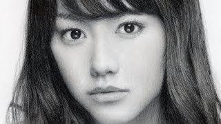 getlinkyoutube.com-鉛筆画 桐谷美玲 完成までの一部始終 動画 早送り / Pencil drawing/ Mirei Kiritani/ Portrait/ How To Draw
