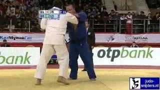 getlinkyoutube.com-Kazuhiko Takahashi (JPN) - Abdullo Tangriev (UZB) [+100kg]