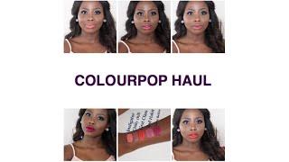 getlinkyoutube.com-New ColourPop Ultra Liquid Lipsticks | Dark Skin | First Impression & Review | Yabz O.