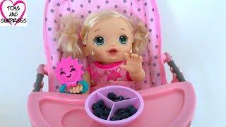 getlinkyoutube.com-Видео для девочек с куклой Пупсик Беби Элайв капризничает Играем в дочки матери
