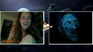 getlinkyoutube.com-Freddy Krueger - in the dark on random webcam omegle