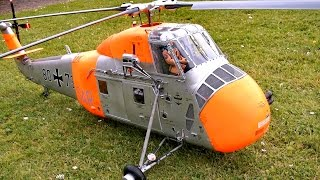 getlinkyoutube.com-SIKORSKY S-58 H-34 BIG SCALE RC ELECTRIC MODEL HELICOPTER / RC Airshow Turbine Meeting 2015