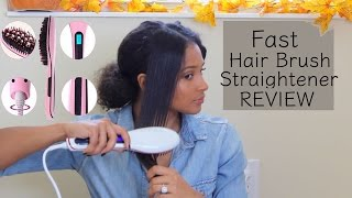 getlinkyoutube.com-Fast Brush Hair Straightener | Curly Hair Review | lovekenziie