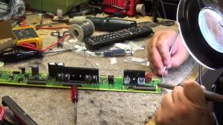 getlinkyoutube.com-Panasonic TC P50U50 Plasma dead. Trouble code 8, SS board repair