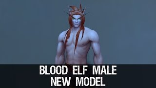 getlinkyoutube.com-Blood Elf Male Character New Model Preview - Warlords of Draenor