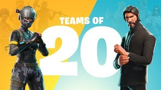 Fortnite - Teams of 20 Announce Trailer