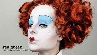 getlinkyoutube.com-Red Queen (Alice In Wonderland) - Halloween Makeup Tutorial (by jen pike)