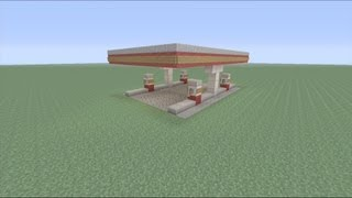 getlinkyoutube.com-How to build a Gas Station in Minecraft - Part 1