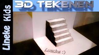 getlinkyoutube.com-Hoe teken je een Trap / 3D tekenen / #21