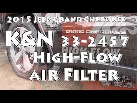 2015 Jeep Grand Cherokee K&N 33-2457 Air Filter